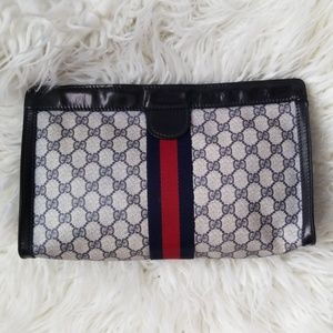 Authentic Vintage Gucci Clutch XL